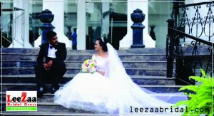 wedding dresses in kandy,leezaa bridal, wedding frock in kandy,colour bridal frock, bridal frock in kandy